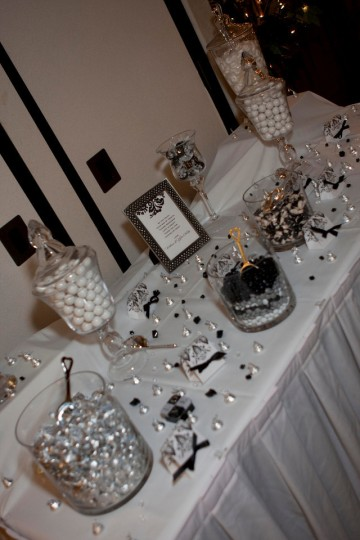 Vintage Ivy Events - candy buffet at wedding